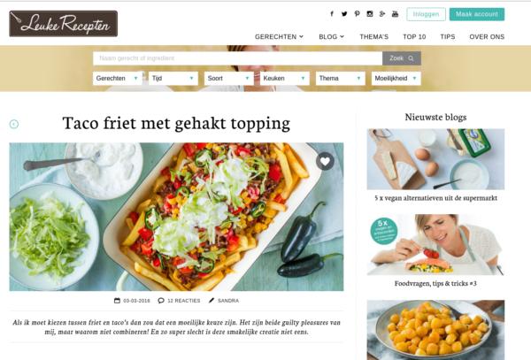 Screenshot taco friet